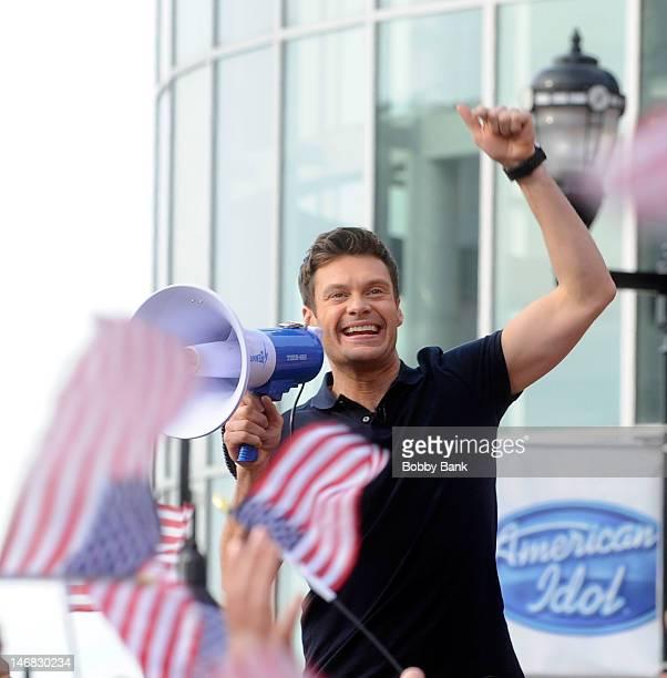 American Idol host Ryan Seacrest attends'American Idol' Season 12 Auditions on June 23 2012 in Newark New Jersey