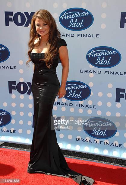 'American Idol' judge Paula Abdul during 'American Idol' Season 6 Finale Arrivals at Kodak Theatre in Hollywood California United States