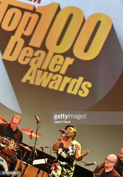 American Idol Recording Artist Melinda Doolittle performs during Top 100 Dealer Awards at Summer NAMM at Music City Center on July 14 2017 in...