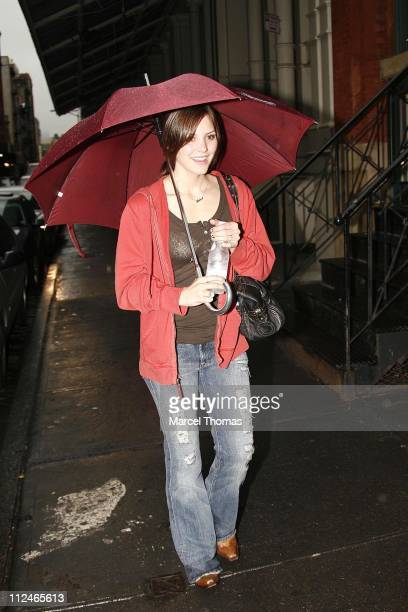 American Idol runnerup Katharine McPhee during Katharine McPhee Sighting in New York City June 3 2006 in New York New York United States