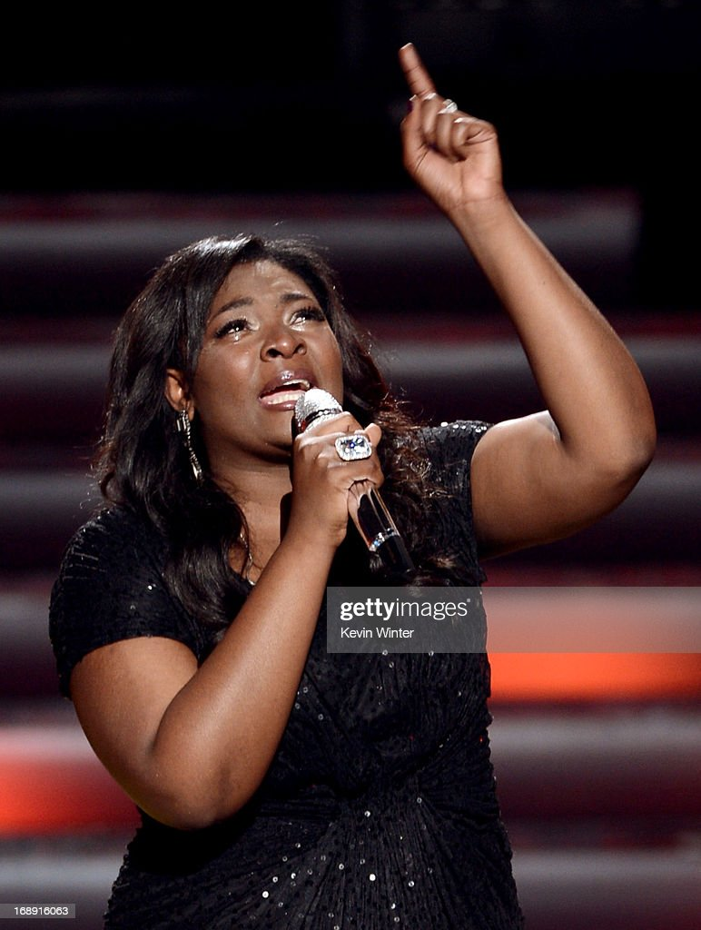 American Idol Season 12 Winner Candice Glover performs onstage during Fox's 'American Idol 2013' Finale Results Show at Nokia Theatre L.A. Live on May 16, 2013 in Los Angeles, California.