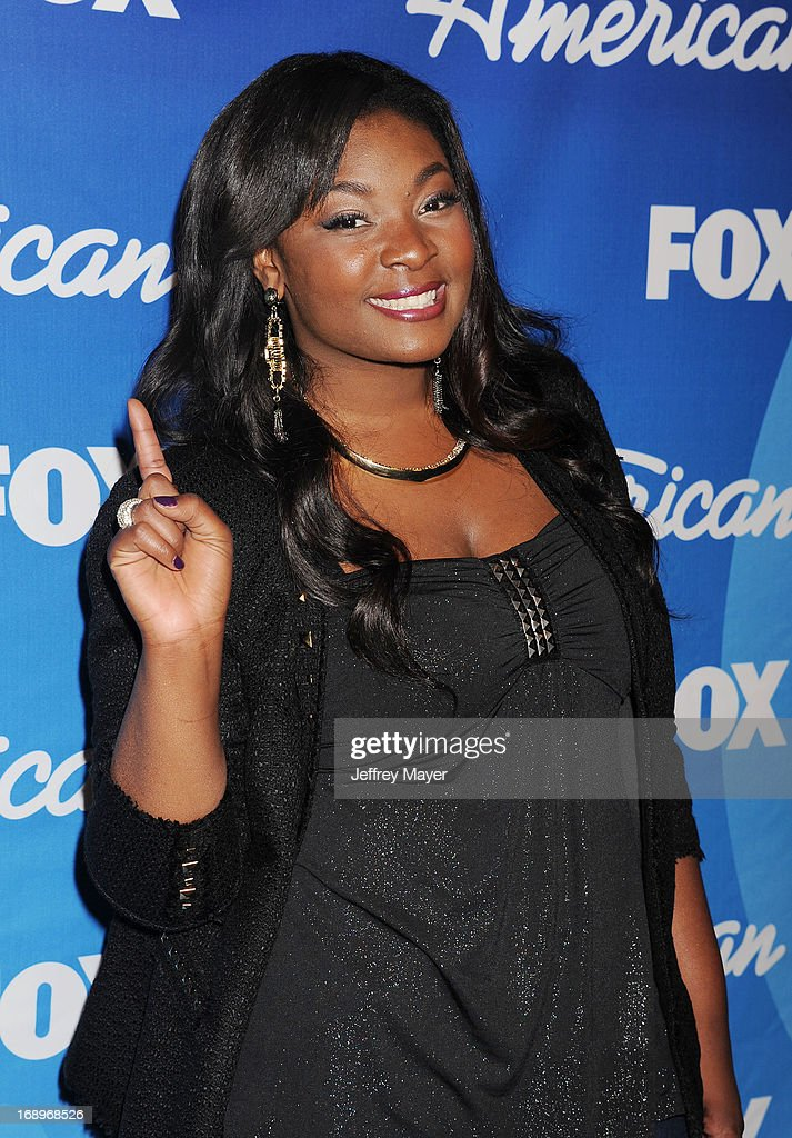'American Idol' Season 12 winner Candice Glover poses in the press room at FOX's 'American Idol' Grand Finale at Nokia Theatre L.A. Live on May 16, 2013 in Los Angeles, California.