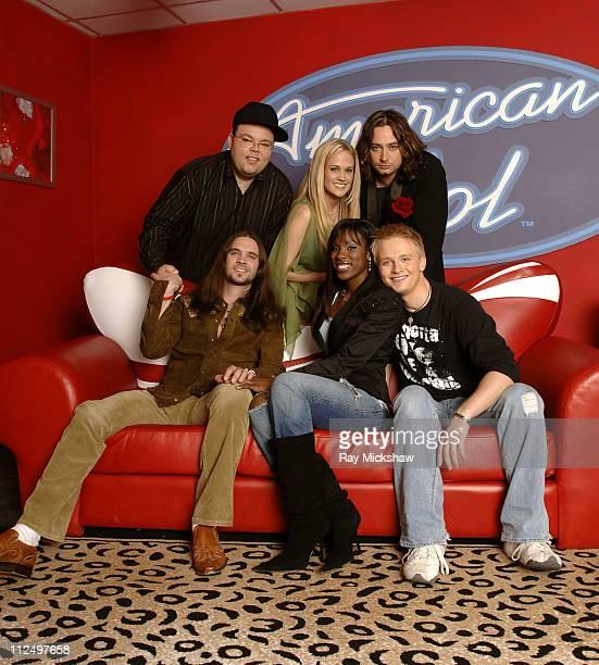 'American Idol' Season 4 Top 7 Finalists Scott Savol Carrie Underwood Constantine Maroulis Bo Bice Vonzell Solomon and Anthony Fedorov