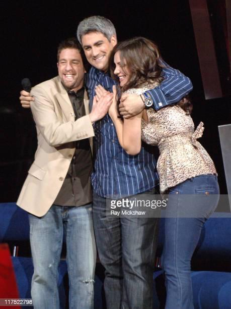 'American Idol' Season 5 Top 3 Finalists Elliott Yamin from Richmond Virginia Taylor Hicks from Birmingham Alabama and Katharine McPhee from Sherman...