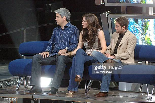 'American Idol' Season 5 Top 3 Finalists Taylor Hicks from Birmingham Alabama Katharine McPhee from Sherman Oaks California and Elliott Yamin from...