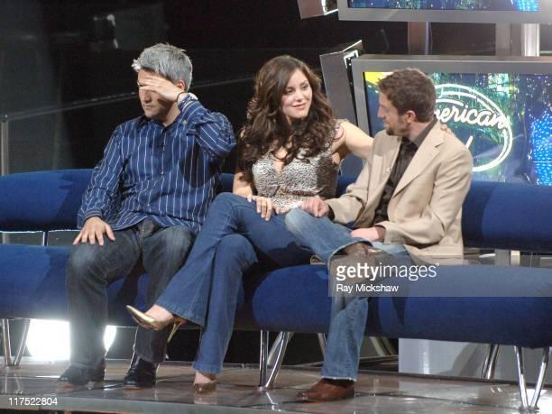'American Idol' Season 5 Top 3 Finalists Taylor Hicks from Birmingham Alabama Katharine McPhee from Sherman Oaks California and Elliott Yamin from...