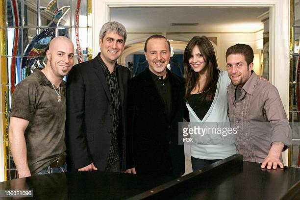 American Idol Season 5 Top 4 Finalists Chris Daughtry from McLeansville North Carolina Taylor Hicks from Birmingham Alabama Tommy Mottola Katharine...
