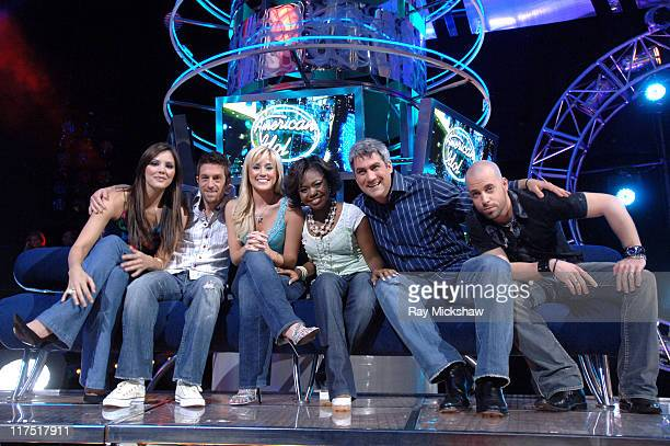 'American Idol' Season 5 Top 6 Finalists Katharine McPhee from Sherman Oaks California Elliott Yamin from Richmond Virginia Kellie Pickler of...