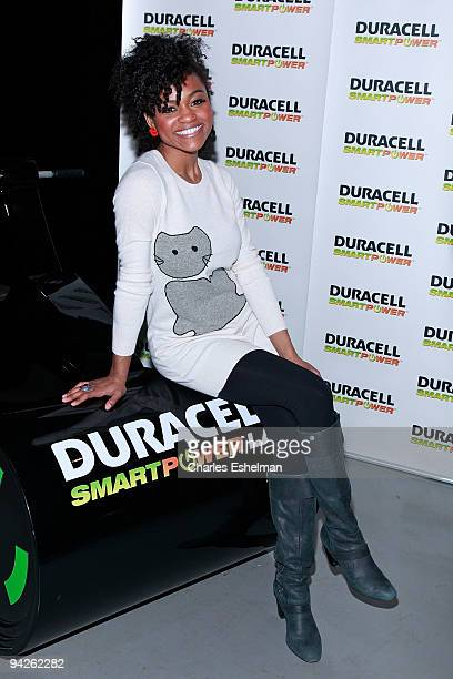 'American Idol' singer Syesha Mercado visits the Duracell Smart Power Lab in Times Square on December 10 2009 in New York City