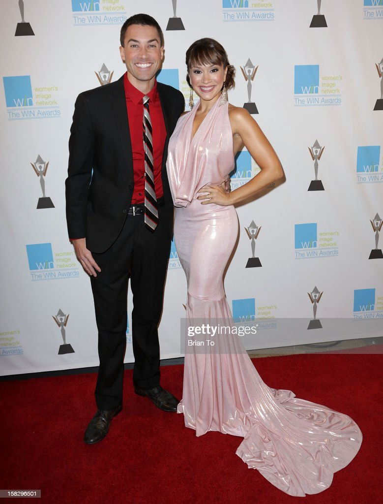 American Idol singer/songwriters Ace Young and Diana DeGarmo attend The 14th a annual Women's Image Network (WIN) awards at Paramount Theater on the Paramount Studios lot on December 12, 2012 in Hollywood, California.
