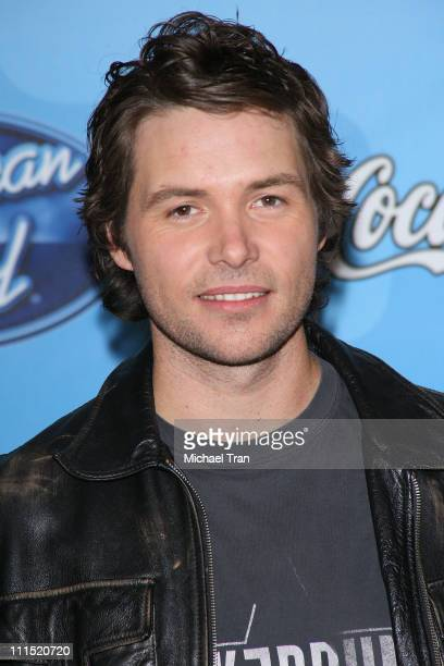 American Idol top 12 finalist Michael Johns arrives at Fox's 'American Idol' meet the top 12 contestants party held at the Pacific Design Center on...