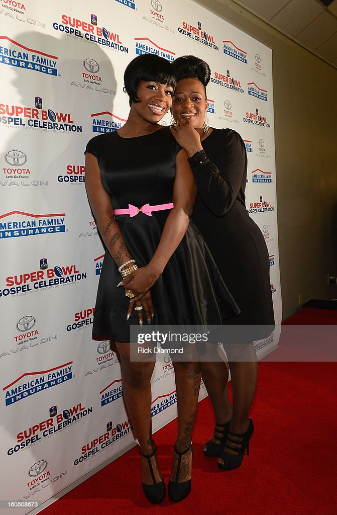 American Idol winner and Grammy-nominated artist Fantasia and mother Diana Barrino Barber attend the Super Bowl Gospel 2013 Show at UNO Lakefront Arena on February 1, 2013 in New Orleans, Louisiana.