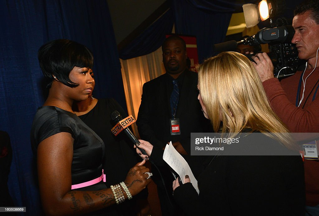 American Idol winner and Grammy-nominated artist Fantasia is interviewed at the Super Bowl Gospel 2013 Show at UNO Lakefront Arena on February 1, 2013 in New Orleans, Louisiana.