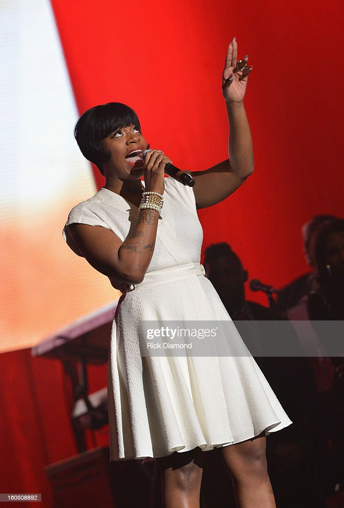 American Idol winner and Grammy-nominated artist Fantasia performs at the Super Bowl Gospel 2013 Show at UNO Lakefront Arena on February 1, 2013 in New Orleans, Louisiana.