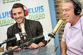 American Idol Winner Nick Fradiani speaks with Elvis Duran when he visits 'The Elvis Duran Z100 Morning Show' at Z100 Studio on May 19 2015 in New...