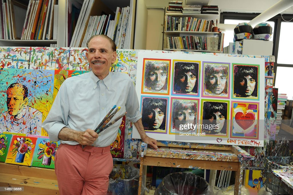 American Illustrator and graphic artist <a gi-track='captionPersonalityLinkClicked' href=/galleries/search?phrase=Peter+Max&family=editorial&specificpeople=228386 ng-click='$event.stopPropagation()'>Peter Max</a> unveils his Paul McCartney Portrait Series at the <a gi-track='captionPersonalityLinkClicked' href=/galleries/search?phrase=Peter+Max&family=editorial&specificpeople=228386 ng-click='$event.stopPropagation()'>Peter Max</a> Studio on June 18, 2012 in New York City.