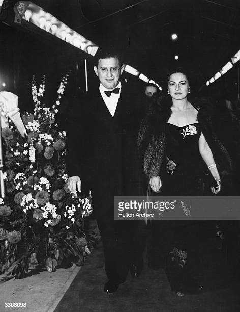 American independent producer David Oliver Selznick and his wife Irene attend the opening night of his greatest film the MGM epic 'Gone With the Wind'