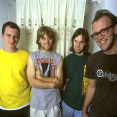American indie rock band Archers of Loaf drummer Marc Price bassist Matt Gentling guitarist Eric Johnson and lead vocalist/guitarist Eric Bachmann...