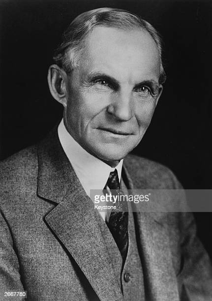 American industrialist and pioneer in the motor vehicle industry Henry Ford