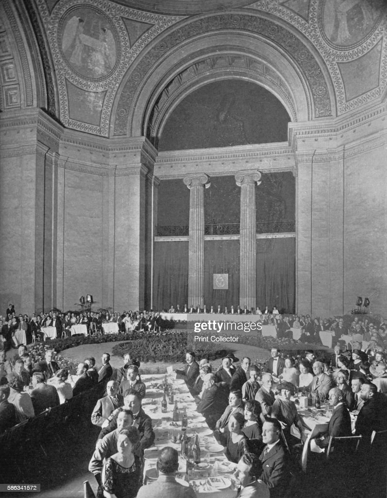 American Institute of Architects banquet Old Fine Arts Building Chicago Illinois 9 June 1922 From The Architectural Forum Volume XXXVII [Rogers and...