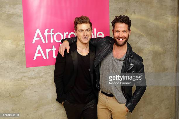 American interior designer Nate Berkus and Jeremiah Brent attend the anniversary party celebrating the 15th Affordable Art Fair at Gilded Lily on...