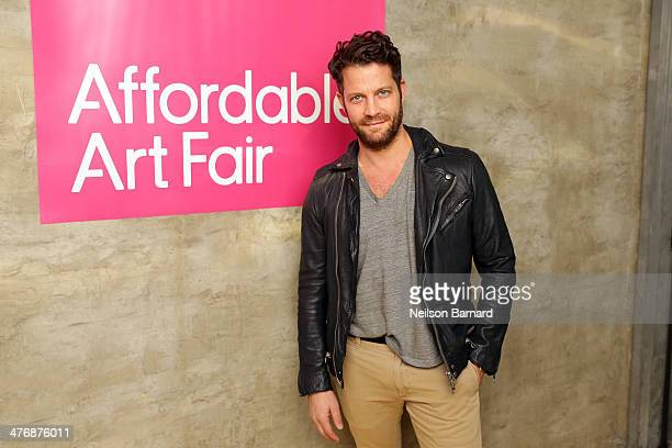 American interior designer Nate Berkus hosts the anniversary party celebrating the 15th Affordable Art Fair at Gilded Lily on March 5 2014 in New...