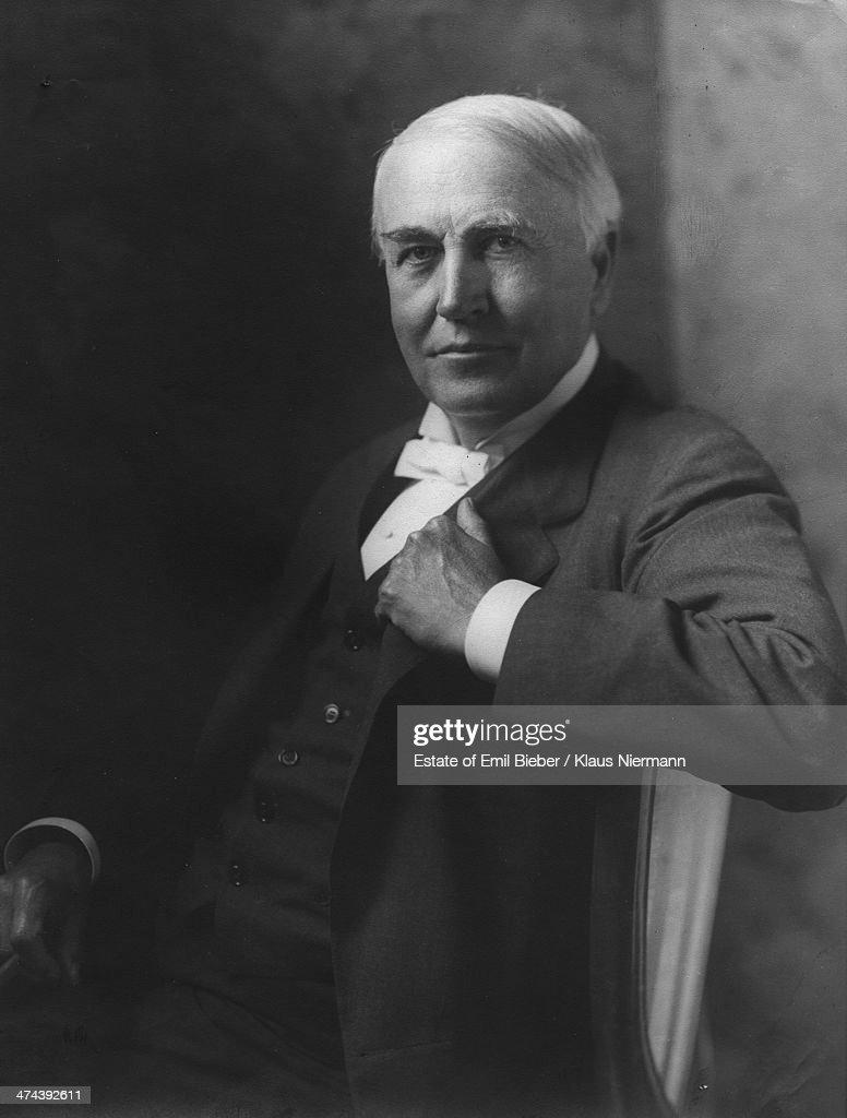 American inventor Thomas Alva Edison (1847-1931), 1911.