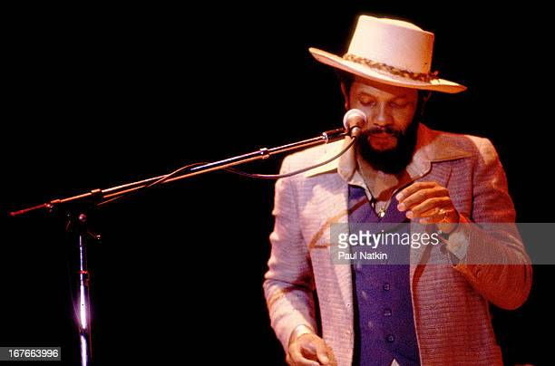 American jazz and funk musician Roy Ayers performs on stage Chicago Illinois July 7 1979