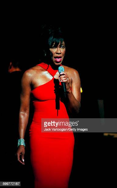American Jazz and Pop musician Natalie Cole performs at the Verizon Music Festival at City Center New York New York August 9 2001