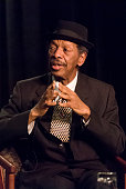 American Jazz composer and musician Ornette Coleman sits for a live Downbeat interview during the 34th Annual International Association for Jazz...