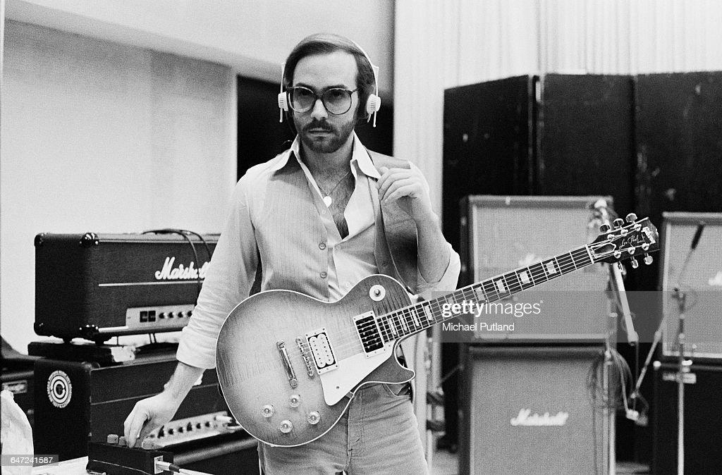 American jazz guitarist Al Di Meola in a recording studio USA July 1979