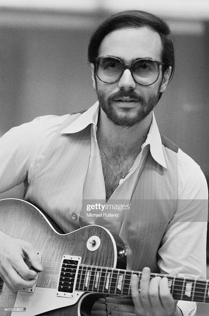 American jazz guitarist <a gi-track='captionPersonalityLinkClicked' href=/galleries/search?phrase=Al+Di+Meola&family=editorial&specificpeople=4457078 ng-click='$event.stopPropagation()'>Al Di Meola</a> in a recording studio, USA, July 1979.