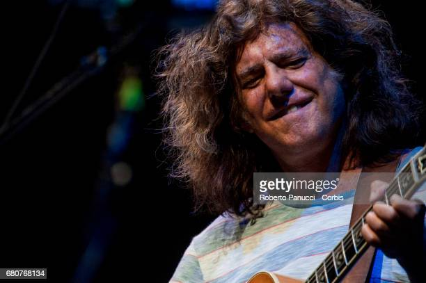 American jazz guitarist and composer Pat Metheny performs in concert at Auditorium Parco of Music on May 08 2017 in Rome Italy