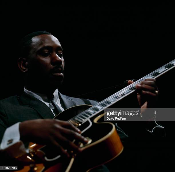 Jazz guitariist Wes Montgomery performs on a television show filmed at BBC Television Centre in London England in 1964