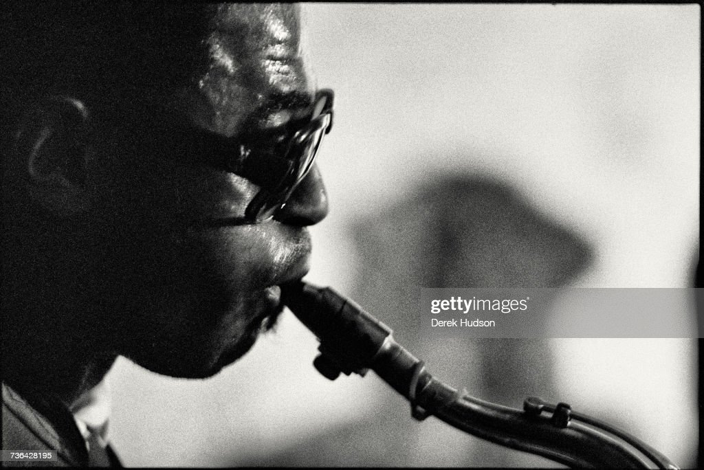 American jazz musician Archie Shepp at the Campagne Premiere jazz club in Montparnasse, Paris in 1979.