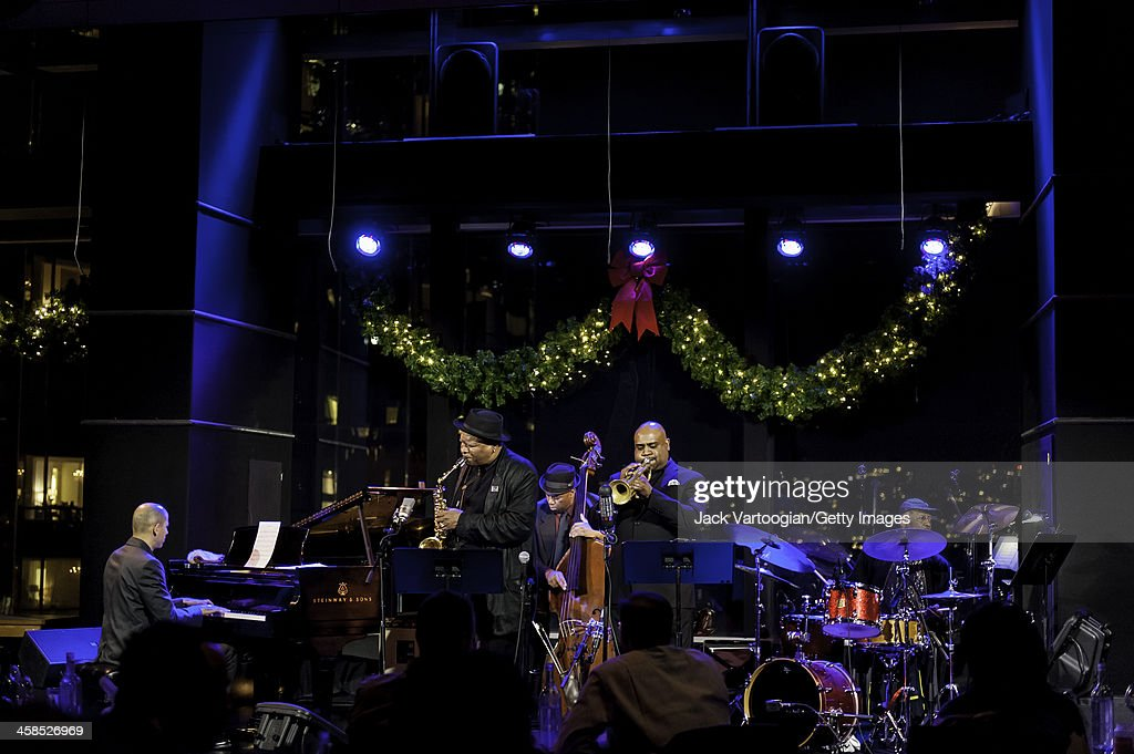American Jazz musician Bobby Watson plays alto saxophone as he leads his band Horizon at Dizzy's Club CocaCola at Jazz at Lincoln Center in the Time...