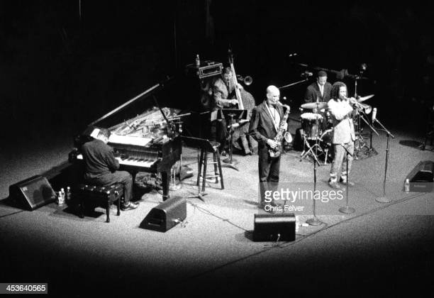 American jazz musician Herbie Hancock and his band perform on stage San Francisco California 2007