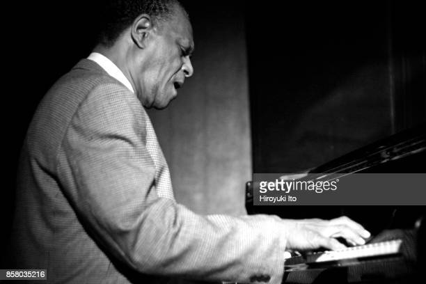 American Jazz musician McCoy Tyner plays piano as he leads his septet during a performance at the Blue Note nightclub New York New York June 5 2006