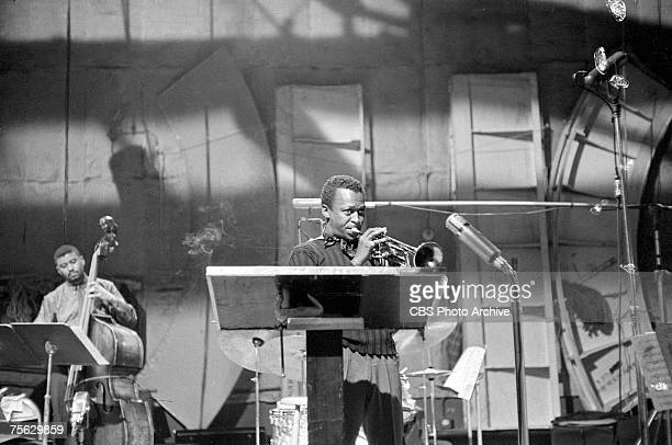 American jazz musician Miles Davis during rehersals for an episode of 'Robert Herridge Theater' entitled 'The Sound of Miles Davis' New York New York...