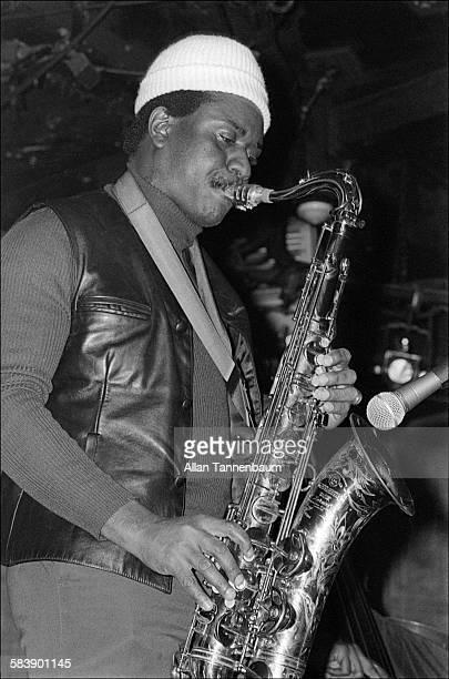 American Jazz musician Pharoah Sanders plays New York New York November 13 1976