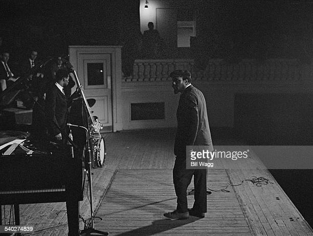 American jazz pianist and composer Thelonious Monk prepares for a concert at Birmingham Town Hall 4th May 1961
