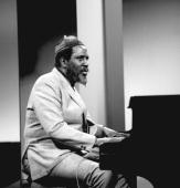 American jazz pianist Thelonious Monk performs on an episode of the television prograpm 'Gateway' February 13 1968