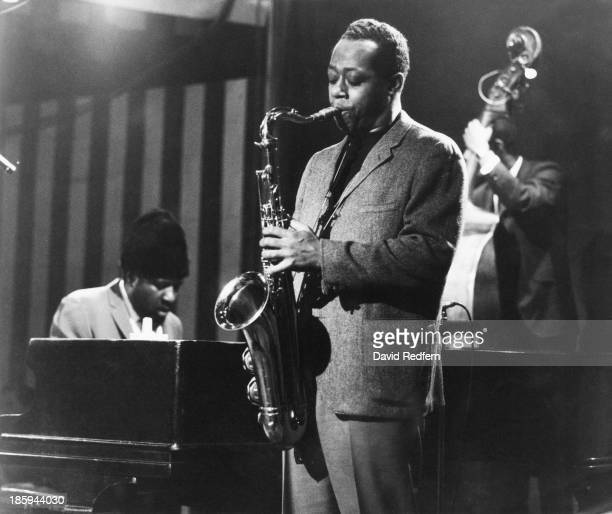 American jazz saxophonist Charlie Rouse and pianist Thelonious Monk performing with Monk's quartet at Ronnie Scott's Jazz Club London 9th April 1970...