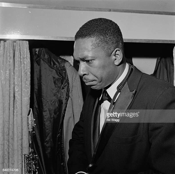 American jazz saxophonist John Coltrane at Birmingham Hippodrome 12th November 1961
