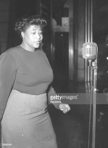 American jazz scat singer Ella Fitzgerald