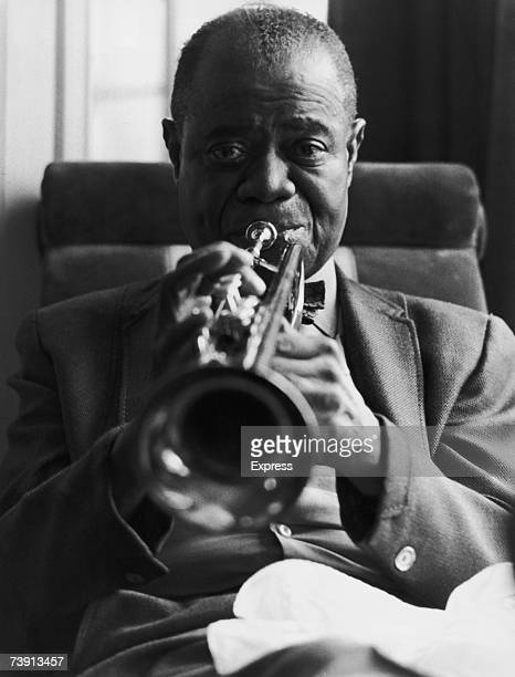 American jazz singer and trumpeter Louis Armstrong in London 28th October 1970