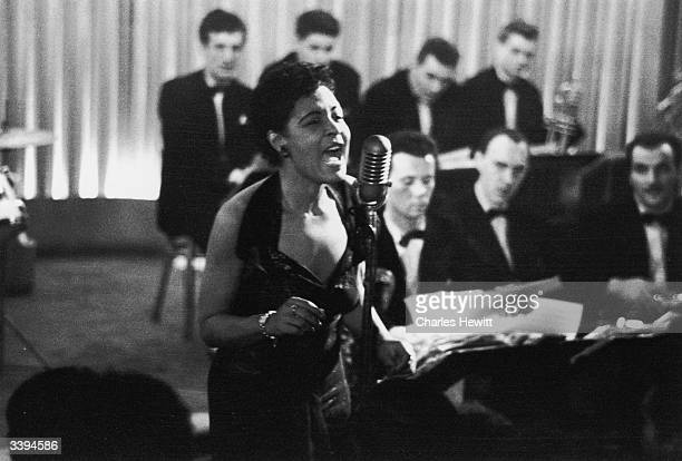 American jazz singer Billie Holiday also known as 'Lady Day' during a performance 1954 Picture Post 7380 Billie Holiday unpub