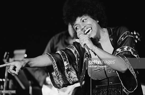 American jazz singer Dee Dee Bridgewater performing on stage USA April 1978