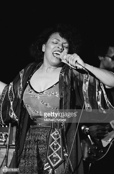 American jazz singer Dee Dee Bridgewater performing on stage USA April 1978