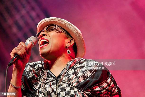 American Jazz Singer Dee Dee Bridgewater performs at the Jazz Showcase at Gaiety On Rodney Bay for the St Lucia Jazz Arts Festival on May 8 2014 in...